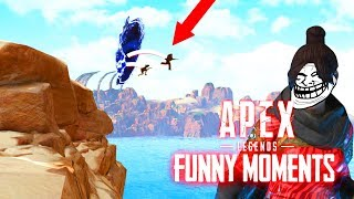 200IQ WRAITH PORTAL's Trolling Noobs ..! Apex Legends FUNNY FAILS & WINS #2