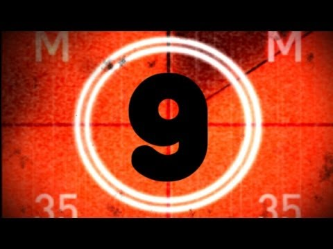 OLD FILM COUNTDOWN with sound ! uHD (color timer) old movie countdown 10 to 0  (v19)