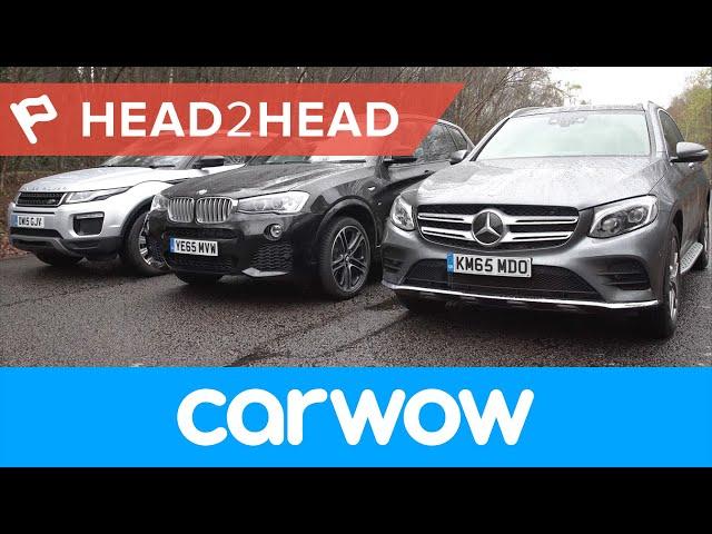 Mercedes GLC vs Range Rover Evoque vs BMW X3 SUV ... - YouTube