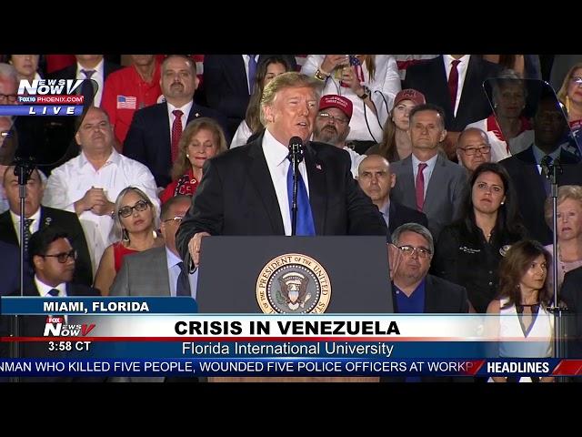 FULL SPEECH President Trump Addresses Crisis In Venezuela