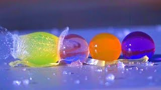 Giant Orbeez vs Airsoft in Slow Motion