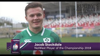 Exclusive: Jacob Stockdale wins NatWest Player of the Championship 2018| NatWest 6 Nations