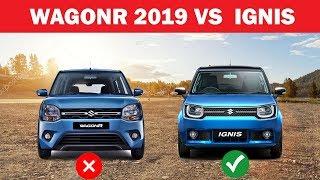 Comparison - Maruti WagonR 2019 vs Ignis delta model