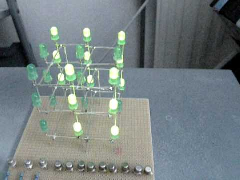 Cool LED-Project: 3x3x3 LED Cube