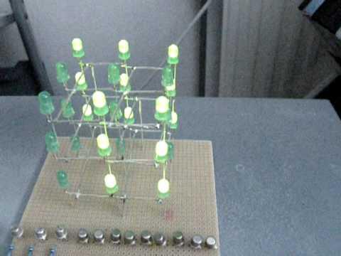 Cool LED-Project: 3x3x3 LED Cube
