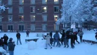 Snowball Battle at Rutgers 02/09/10