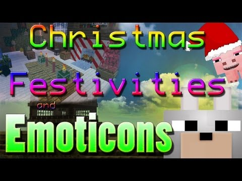 Minecraft Mods - Christmas Festivities and Emoticons 1.4.5 Review and Tutorial