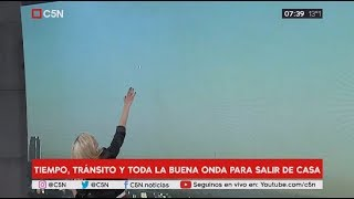 Así se vio un OVNI en el cielo de Buenos Aires durante Mañanas Argentinas