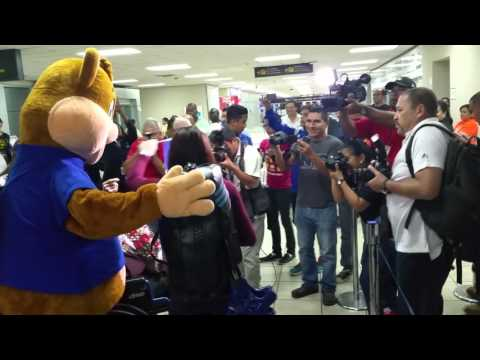 Carolena Carstens Welcome Home after Winning Gold and Qualifying for Rio 2016