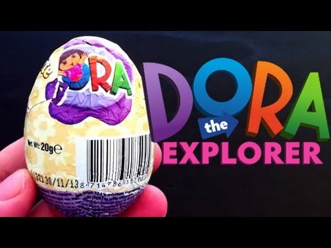 Dora the Explorer Kinder surprise egg toy unboxing - unboxingsurpriseegg
