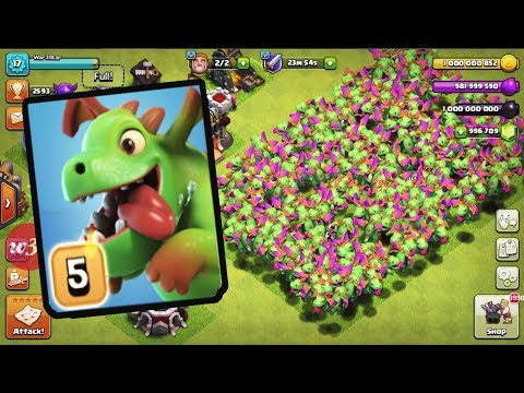 Unlimited Max Baby Dragon Attack On Clash Of Clans | COC Funny GamePlay
