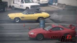 Supra vs American muscle  A fast & furious like Drag race