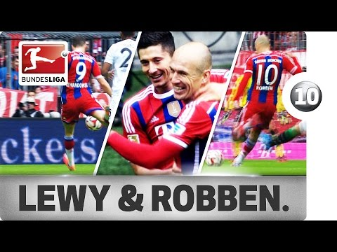 Top 10 Goals Lewandowski & Robben vs. Hannover 96
