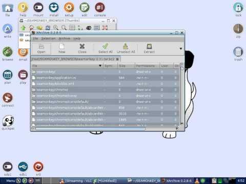 Puppy linux - descargar y ejecutar navegador (video re-editado)
