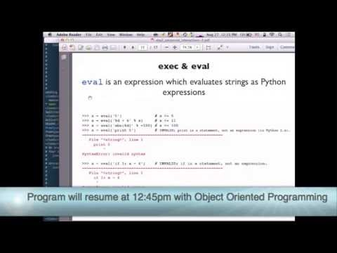 Python Boot Camp 2013 Tues Aug 27 Part II
