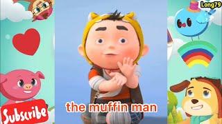 Nhạc Tiếng Anh Vui Nhộn Cho Bé #3 | The Muffin Man - The Green Orbs | Vui Cùng Bé Mỗi Ngày