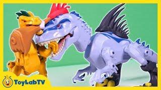 Jurassic World Toys Indominus Rex vs Velociraptor Mash Pack