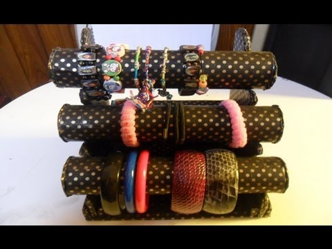 diy:organizador de pulseras   Bracelets Organizer