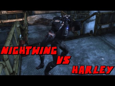 Batman Arkham City Nightwing VS Harley Quinn Mod