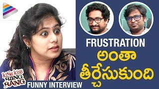 FRUSTRATED WOMAN Interviews Kiss Kiss Bang Bang Movie Team | #KKBB Movie | 2017 Telugu Movie