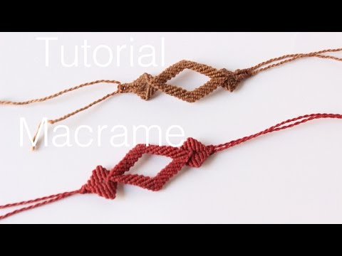 pulsera macrame con rombos   friendship bracelet