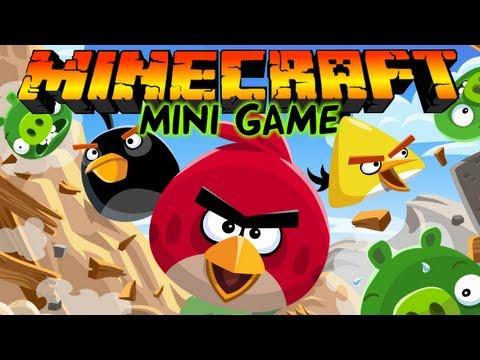 Angry Birds в Майнкрафт: Мини игры