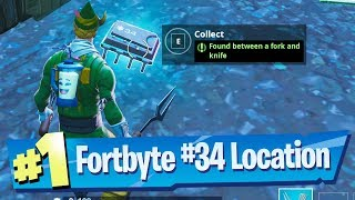 Fortnite Fortbyte #34 Location - Found between a Fork and Knife