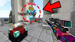 SKYWARS SNIPER BOW CHALLENGE! | Minecraft Skywars