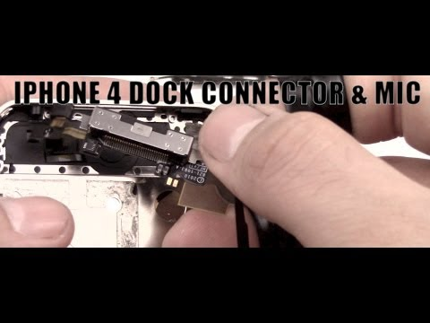 sostituzione connettore di ricarica microfono dock connector microphone  iphone 4 disassembly