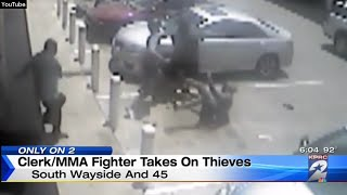 MMA Clerk Beats Up Thieves!
