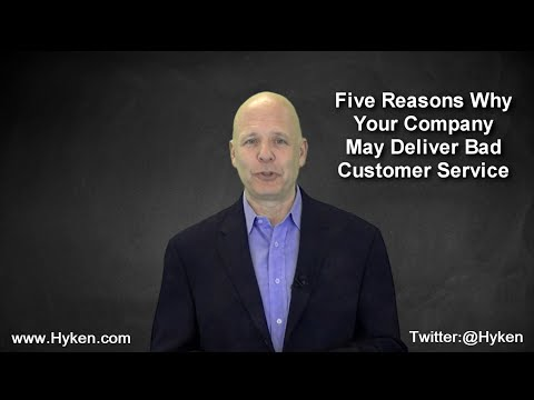 Customer Service Speaker Shares 5 Reasons Why You May Deliver Bad Customer Service