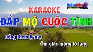 Đắp Mộ Cuộc Tình Karaoke TONE NAM | Karaoke đắp mộ cuộc tình nhạc sống