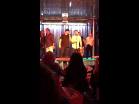 "Lance Bass Joey Fatone & Friends perform ""Bye Bye Bye"" during #DirtyPopAtSea Karaoke"