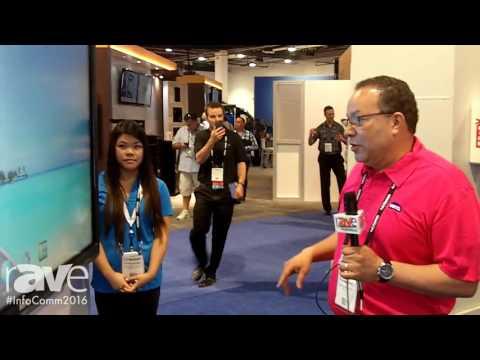 InfoComm 2016: BenQ Demos RP750 Interactive Flat Panel