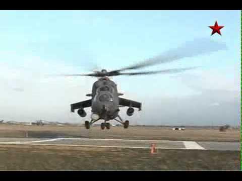 Ударный вертолет Ми 35. Огневая поддержка