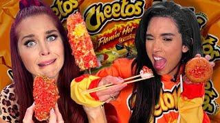 7 Crazy Flamin' Hot Cheetos Creations! (Cheat Day)