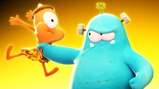Funny Animated Cartoon | Spookiz Hungry Frankie Gets Angry 스푸키즈 | Videos For Kids