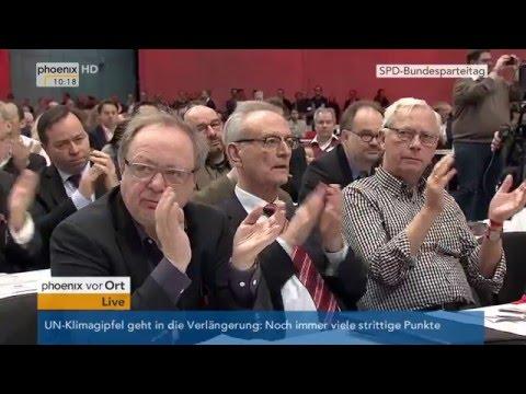 SPD-Parteitag: Rede Sigmar Gabriel inklusive Aussprache am 11.12.2015