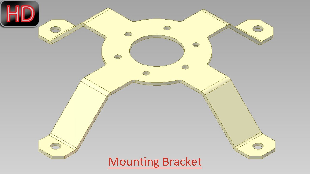 Mounting Bracket Sheet Metal Video Tutorial Autodesk