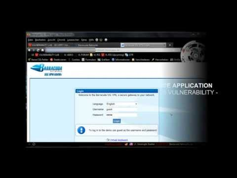 0 Barracuda SSL VPN Security Appliance   Input Filter & Exception Bypass Vulnerability