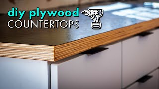 Building DIY WOOD COUNTERTOPS from PLYWOOD & LAMINATE for $300 // Kitchen Remodel Pt. 2