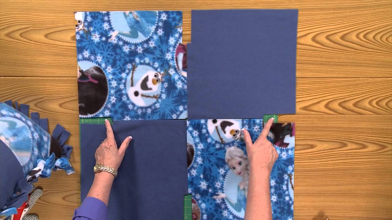Disney's Frozen No-Sew Fleece Blanket tutorial – Fons ...