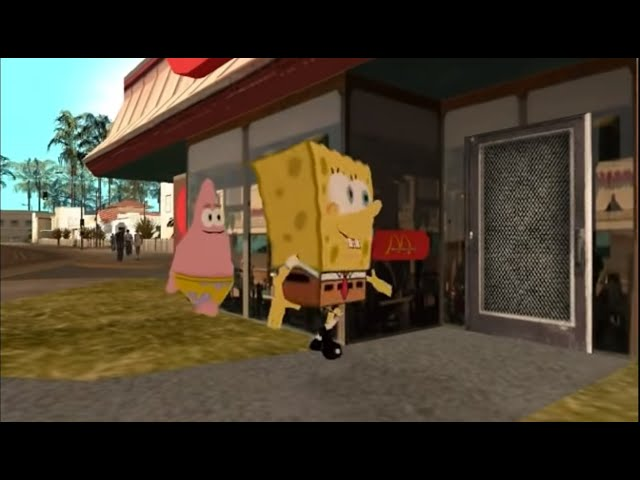 GTA San Andreas: Spongebob (FILM ENGLISH)