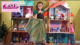 Princess Story: Little Mermaid Ariel and Frozen Anna and Elsa Play in Under the Sea Castle with LOLs