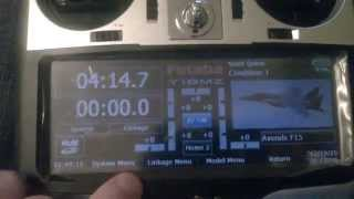 Futaba 18MZ Transmitter configured for F15 and Topgun Soundtrack background sound