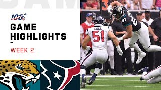 Jaguars vs. Texans Week 2 Highlights | NFL 2019