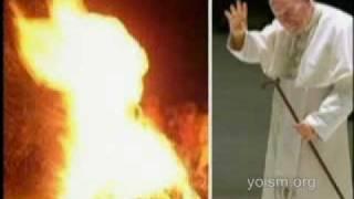 Pope John Paul II On Fire