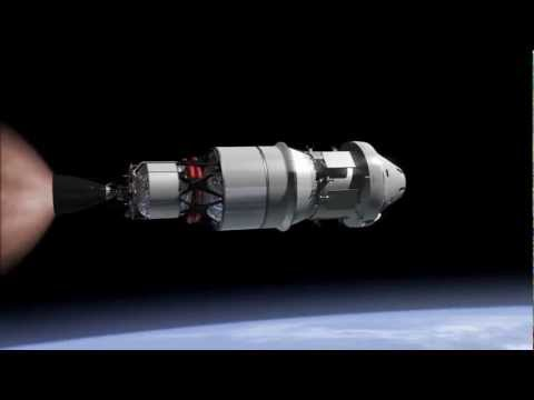 NASA Exploration Mission 1 (EM-1) with Orion spacecraft animated scenario
