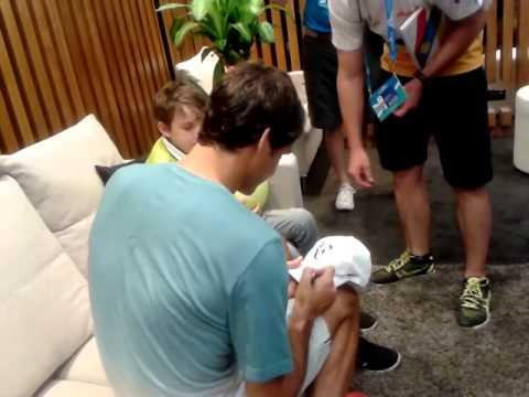 Holly meeting Roger Federer 11 January 2014