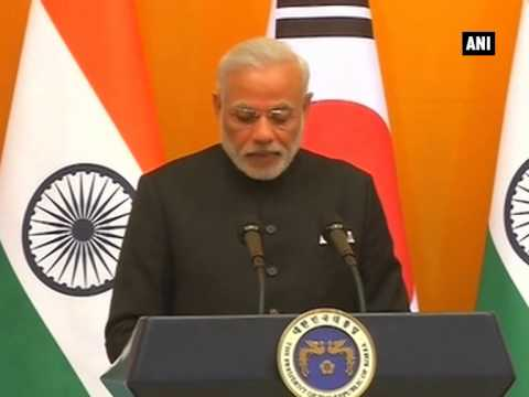 PM Modi and S Korean Prez Park Geun-hye's joint statement and agreement signing ceremony (Part - 3)